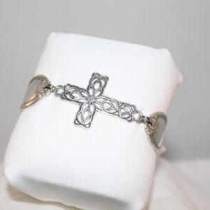 Filgree Cross Bracelet